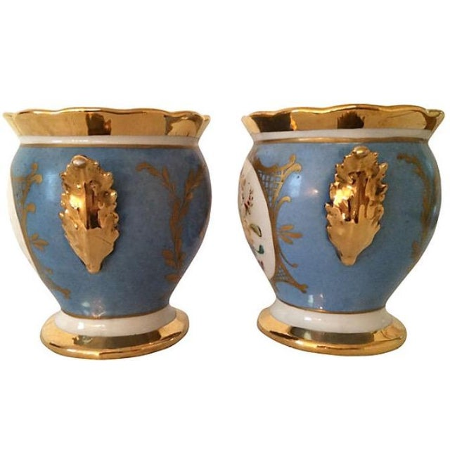 French French Porcelain Cachepots - A Pair For Sale - Image 3 of 5
