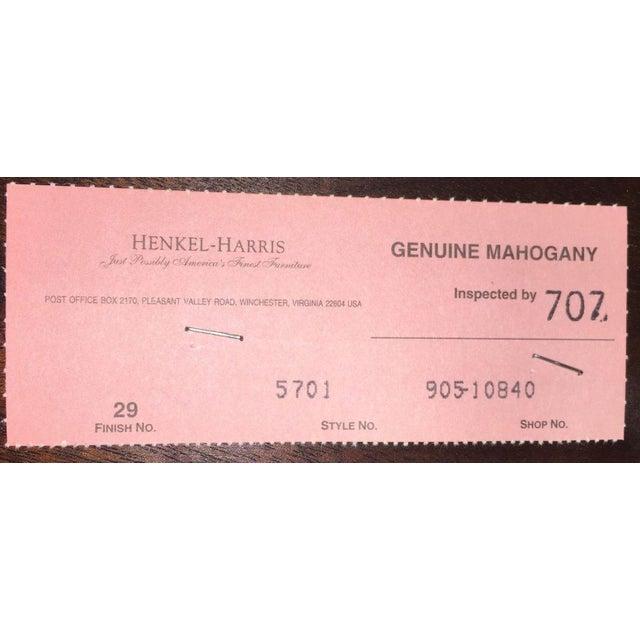 Henkel Harris 2000s Myers Mahogany Card Table by Henkel Harris #5701 For Sale - Image 4 of 6