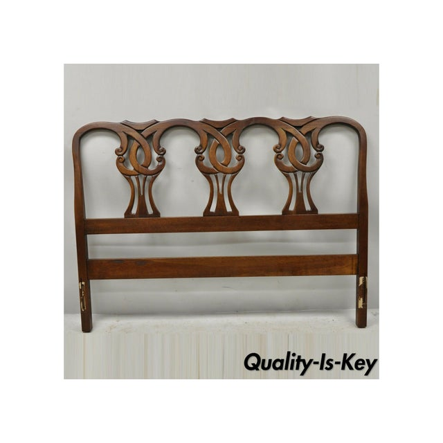 Vintage Blair House Chippendale Style Mahogany Full Size Bed Headboard For Sale - Image 10 of 10