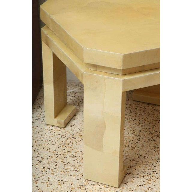 Large Enrique Garces Parchment End Table For Sale - Image 9 of 10