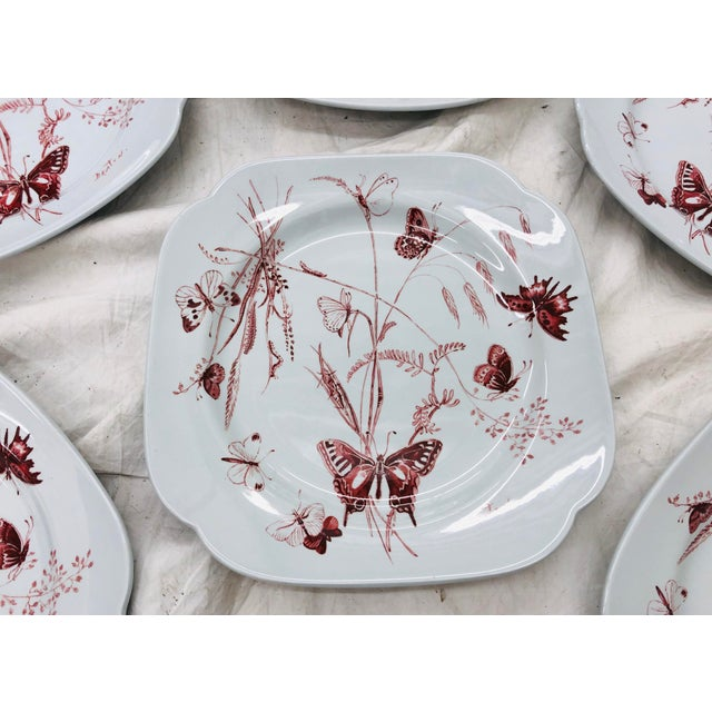 Abstract Vintage Set Cecil Beaton Spode Plates For Sale - Image 3 of 7