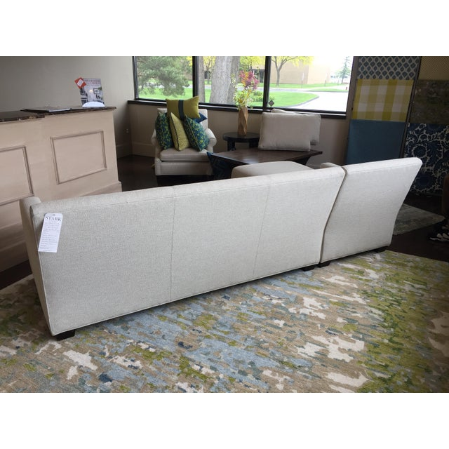 Traditional Transitional Almond Upholstered 2-Pc. Sectional For Sale - Image 3 of 6