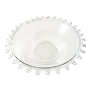 Looped Rim Glass Bowl For Sale