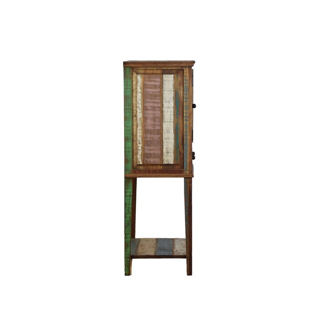 Adirondack Reclaimed Wood Display Cabinet For Sale - Image 3 of 4