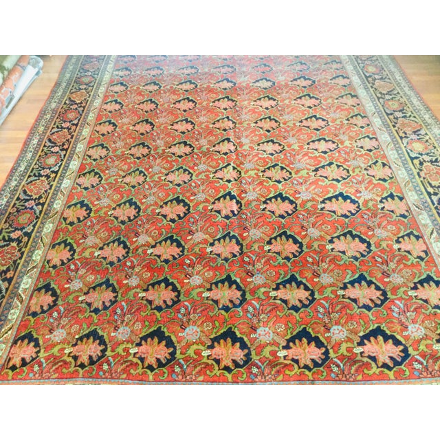 "1920's Persian Bijar Rug-9'1'x12"" For Sale In Pittsburgh - Image 6 of 10"