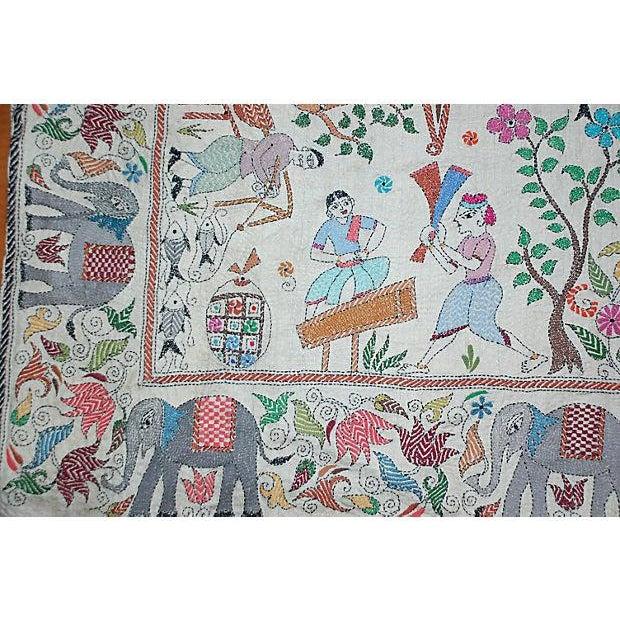 Silk Kantha by Sreelata Sarkar For Sale - Image 5 of 8
