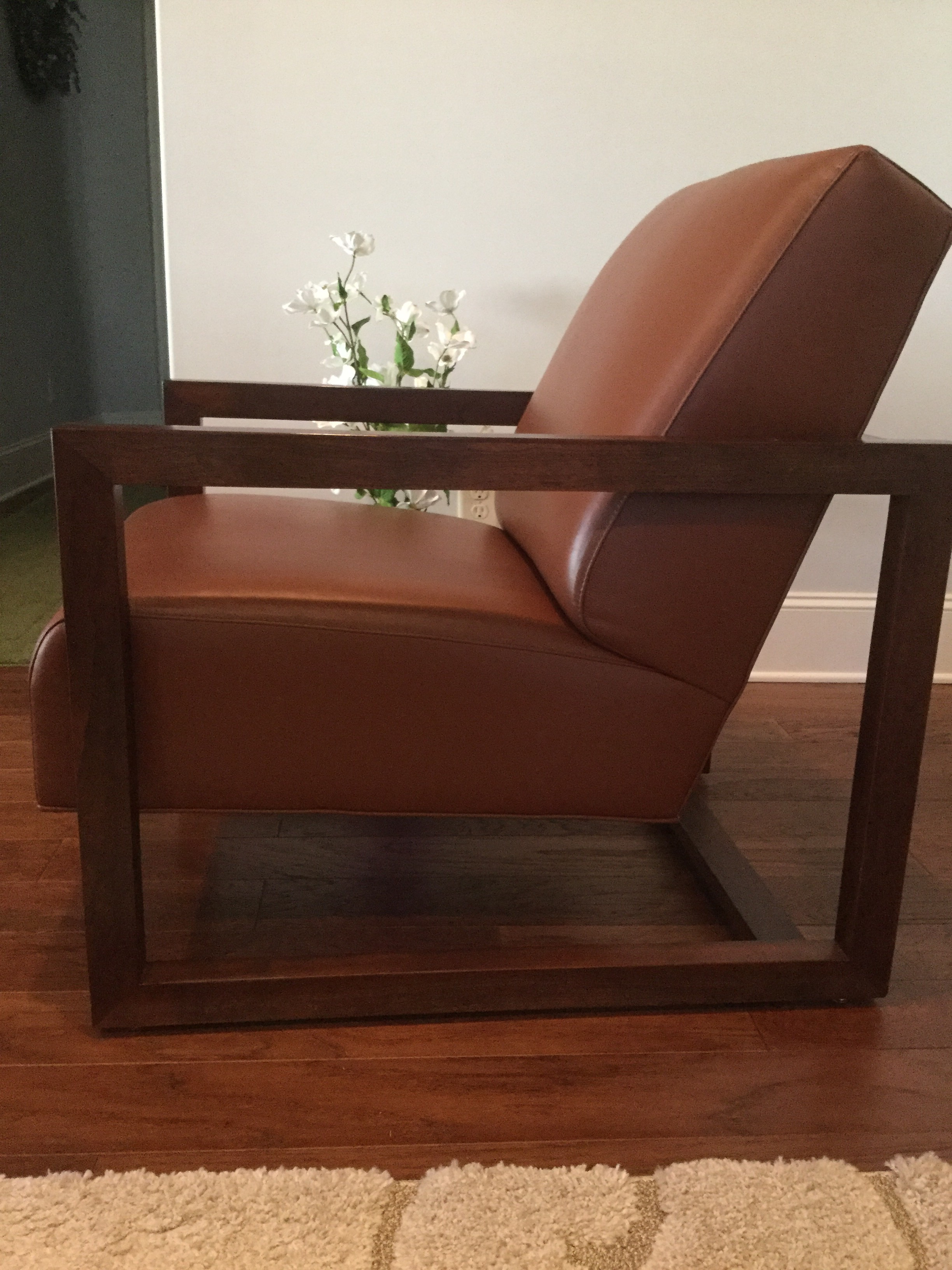 Why Not Add This Attractive Leather STICKLEY Chair To Your Home? This Chair  Can Fit