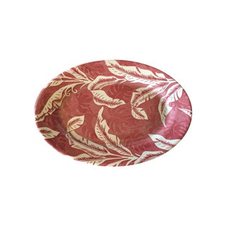 Tepco Red Banana Leaf Oval Plate