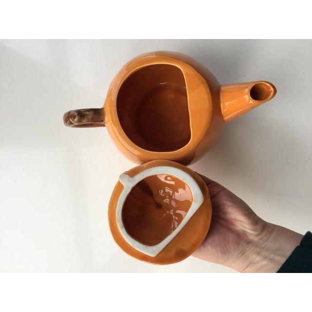 Vintage Orange Shaped Teapot For Sale In San Francisco - Image 6 of 7