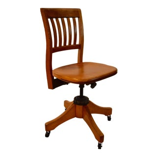 Vintage Adjustable Office Chair by W.H.Gunlocke Chair Company For Sale