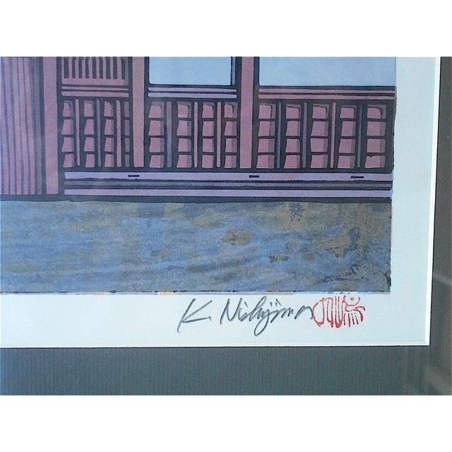 Japanese Mid 20th Century Signed Japanese Woodblock, Nishijima For Sale - Image 3 of 4