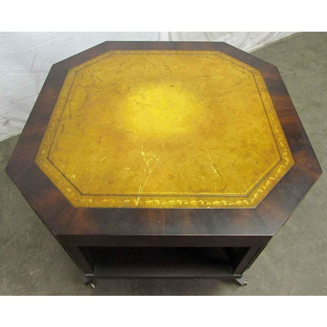 Leather Top Rolling Table - Image 7 of 10