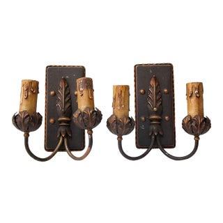1930s Double Arm Sconces - A Pair For Sale