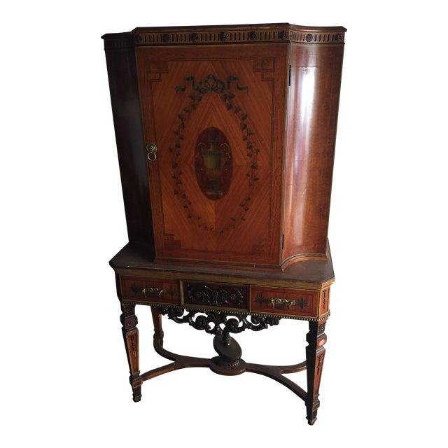 Antique Wood Cabinet - Image 1 of 7
