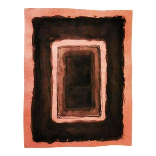 Late 20th Century Mark Rothko Black Ink and Wash Drawing. Untitled and Signed For Sale