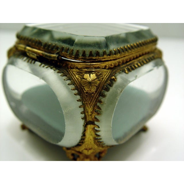 Vintage French Beveled Mirrored Glass & Ormolu Box - Image 3 of 5