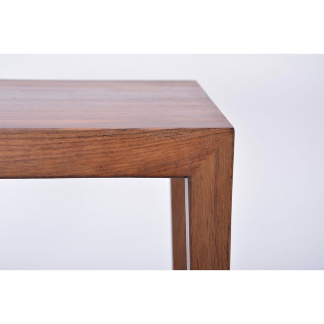 Mid-Century Modern Vintage Rosewood Side Table by Severin Hansen, 1960s For Sale - Image 3 of 9