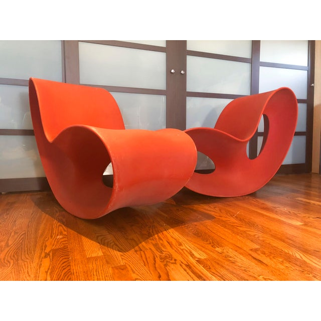 2000s Modern Italian Magis Voido Rocking Chairs- A Pair For Sale - Image 5 of 5