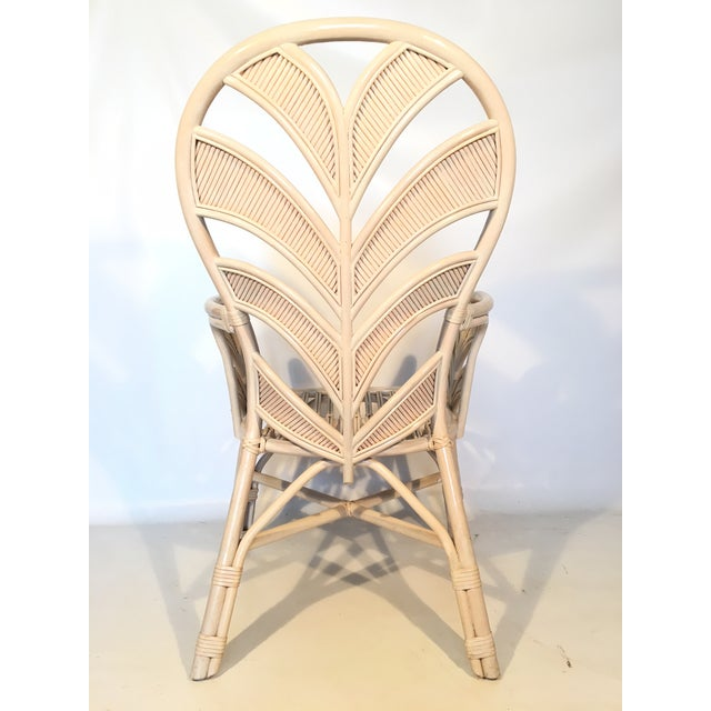 Late 20th Century Mid Century Rattan Palm Tree Back Chair - 10 Available For Sale - Image 5 of 12