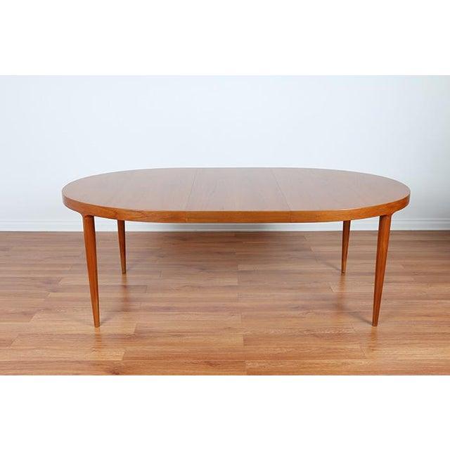 Skovmand & Anderson Danish Mid Century Teak Dining Table - Image 4 of 8