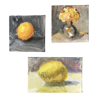 Gallery Wall Collection 3 Original Contemporary Impressionist Still Life Small Paintings For Sale