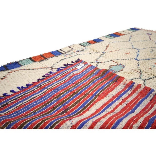 Berber Tribes of Morocco Vintage Moroccan Rug, Berber Moroccan Azilal Tribal Rug, 04'06 X 07'09 For Sale - Image 4 of 6