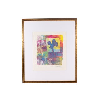 Cynthia Blasingham Signed Abstract Monoprint For Sale