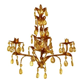 Italian Gilt Tole Wall Sconce For Sale