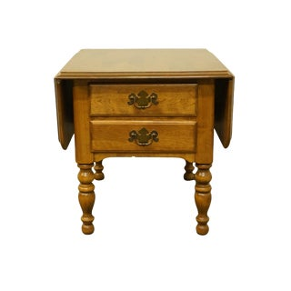 Ethan Allen Heirloom Nutmeg Maple Drop-Leaf Pembroke Accent End Table For Sale