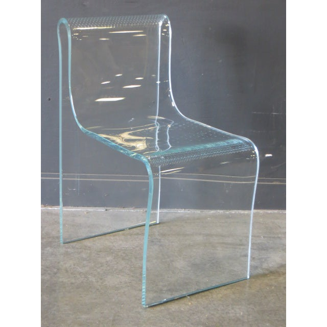 Mid-Century Modern 1980s Vintage Fiam Glass Ghost Chair For Sale - Image 3 of 12