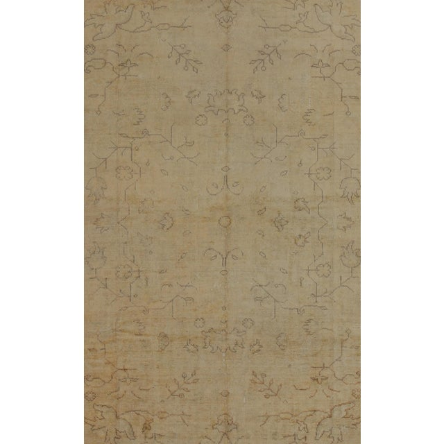 Turkish Early 20th Century Antique Turkish Oushak Rug - 9′5″ × 12′10″ For Sale - Image 3 of 9