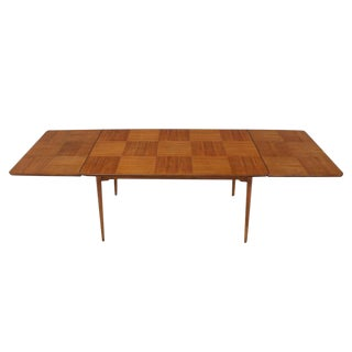 Rare Edmund Spence Checker Pattern Dining Table For Sale