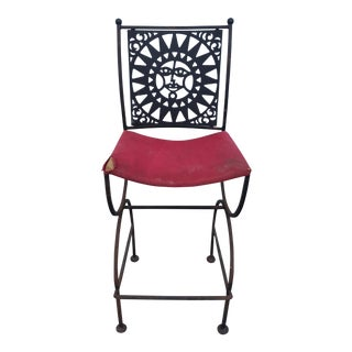 Arthur Umanoff Mayan Sun Bar Stool For Sale