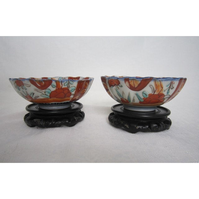 Vintage Japanese Bowls With Stands - Pair For Sale - Image 6 of 6