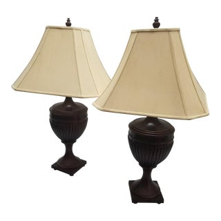 English Traditional Table Lamps - A Pair