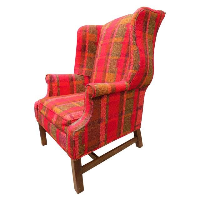 Vintage Mid-Century Flexsteel Georgian Style Wingback Chair For Sale - Image 10 of 13