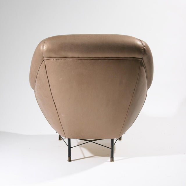 1950s Modernist Leather Armchairs - a Pair For Sale - Image 5 of 6