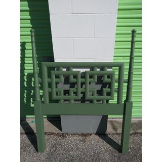 1960s Chinoiserie Palm Beach Green Twin Headboards - Pair Preview