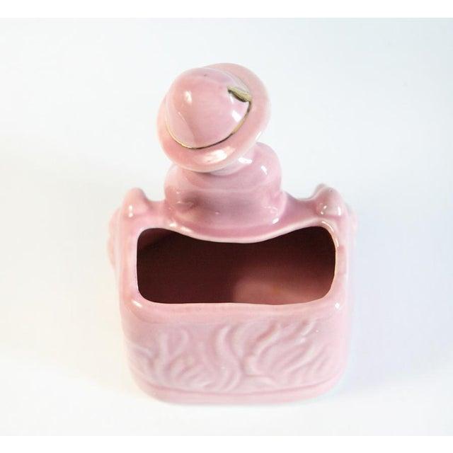 Pink Boy & Sheep Figurine Vase For Sale - Image 6 of 6