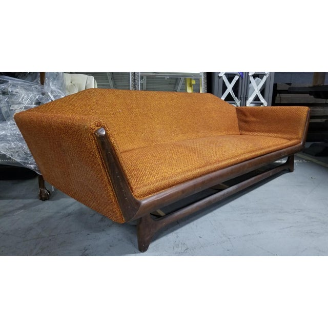 Magnificent Mid Century Adrian Pearsall Walnut Framed Gondola Sofa Creativecarmelina Interior Chair Design Creativecarmelinacom