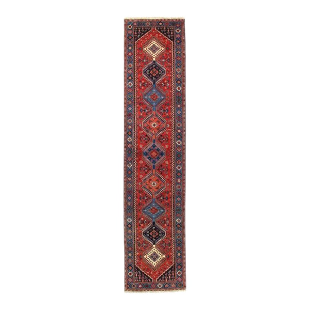 Pasargad Red Persian Yalameh Runner- 2′8″ × 12′ For Sale