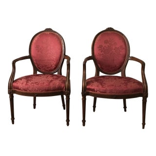 French Walnut Chairs - a Pair