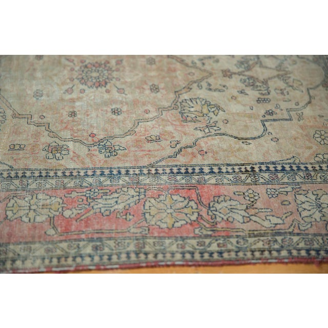 "Cotton Antique Kerman Square Rug - 2'11"" X 4' For Sale - Image 7 of 13"