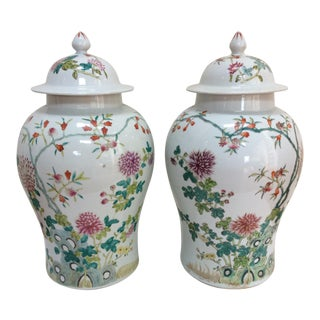 Chinese Ginger Jars - A Pair