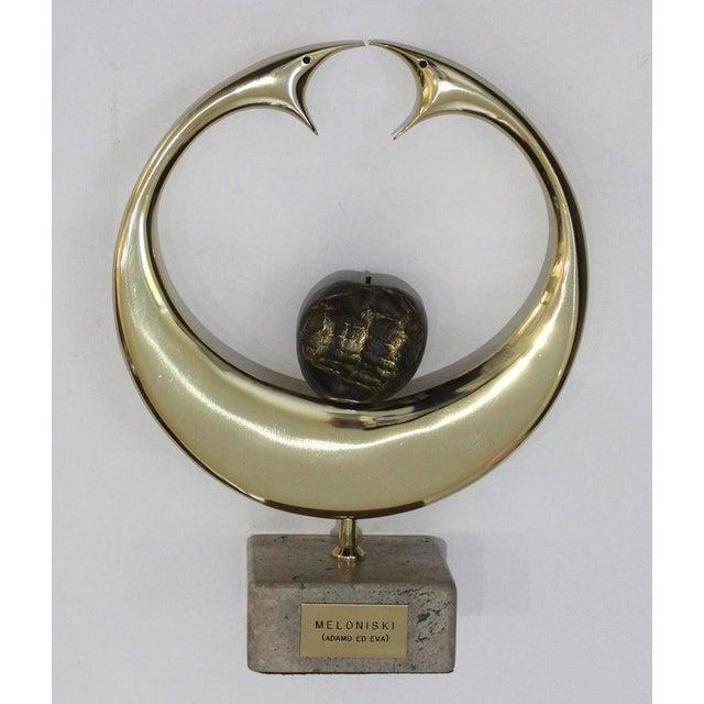 "Metal Vintage Meloniski Bronze Sculpture ""Adamo Ed Eva"" For Sale - Image 7 of 13"