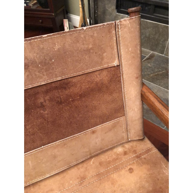 Chocolate 1950s Vintage Michael Arnoult Sling Chair Rocker For Sale - Image 8 of 12