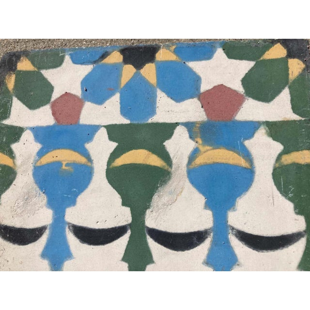 Moroccan handcrafted and hand painted cement tile with traditional Fez Moorish design. These are authentic Moroccan...