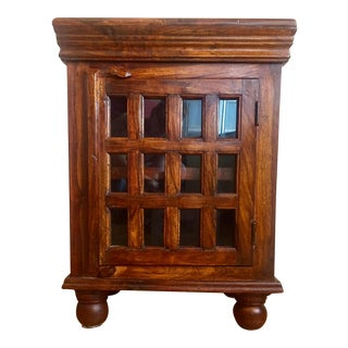 Anglo-Indian Rustic Wood Cabinet For Sale