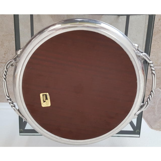 Art Deco Styled Formica and Aluminum Serving Tray - Image 4 of 5