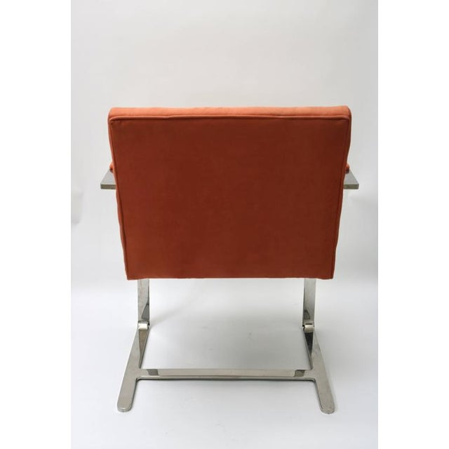 Fabric Brno Flat Bar Chairs by Knoll in Polished Steel and Ultra Suede - Set of 6 For Sale - Image 7 of 8